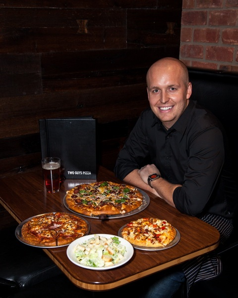 Cory Medd owner of Two Guys and a Pizza Place