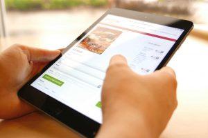 SpeedDine Online Ordering on an iPad