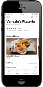Venezia's Doordash profile