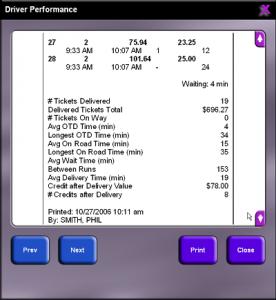 cashout driver performance