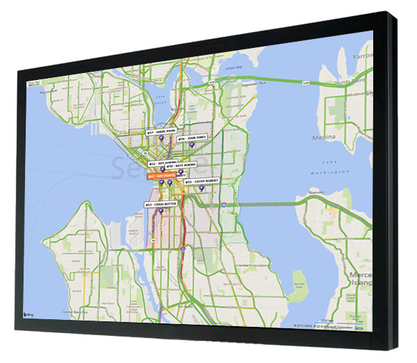 LiveMaps visual display for delivery