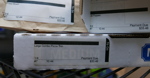 Label printing for pizza